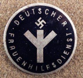 WOMEN NAZI DEUTSCHER FRAUENHILFSDIENST MEMBERS BROACH