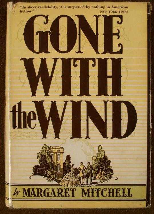 GONE WITH THE WIND HB BOOK 1938 MARGARET MITCHELL