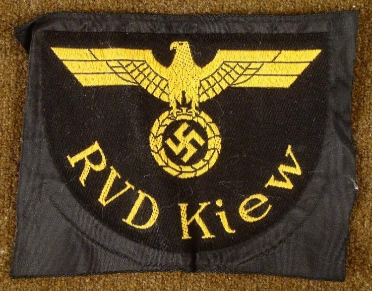 RVD-KIEW REICHSBAHN/NAZI RAILROAD ORIGINAL SLEEVE PATCH