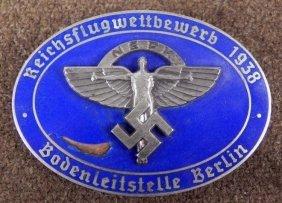 NAZI 1938 NSFK BERLIN AWARD BADGE