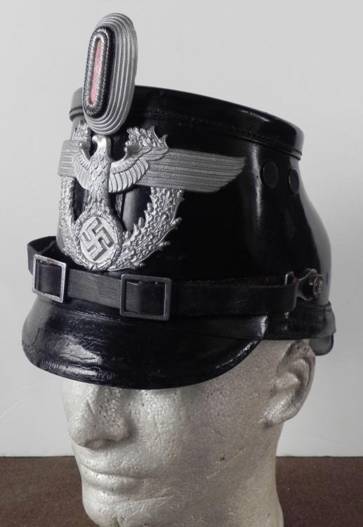 EARLY NAZI POLICE SHAKO/TSCHAKO HAT