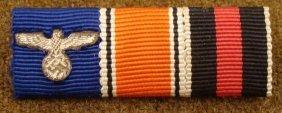NAZI RIBBON BAR-3 PC-POLICE SERVICE HINDENBURG CROSS