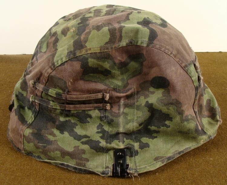 WWII NAZI GERMAN HELMET REVERSIBLE CAMOUFLAGE COVER