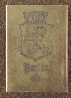 WWII Original Nazi Berlin Match Box Holder RZM Rare