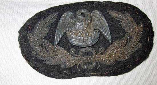 Confederate Louisiana General Officers hat insignia of