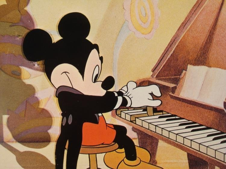 Mickey Mouse-Piano Golden Anniversary Orig Lobby Card - 2