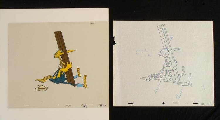 Crazylegs Crane Original Drawing Cel Animation Stuck
