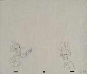 Donald & Scrooge McDuck Original Production Drawing