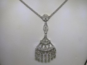 .68 CT All Diamonds 18K White Gold Necklace