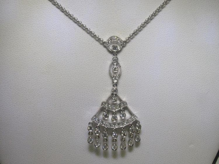 .68 CT All Diamonds 18K White Gold Necklace