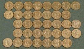 36 Coin Presidential Dollar Set UNC 2007-2011