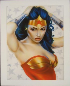 Wonder Woman Signed Shen Lithograph Sex Appeal Print