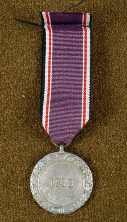 Nazi WWII Original Luftschutz Award Medal w/ Ribbon - 2