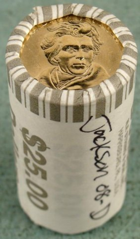 1 Bank Roll 2008-D UNC Jackson Presidential Dollars