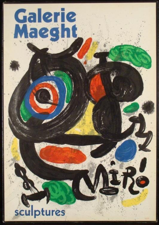 Miro Sculptures Exhibit Galerie Maeght Poster Print
