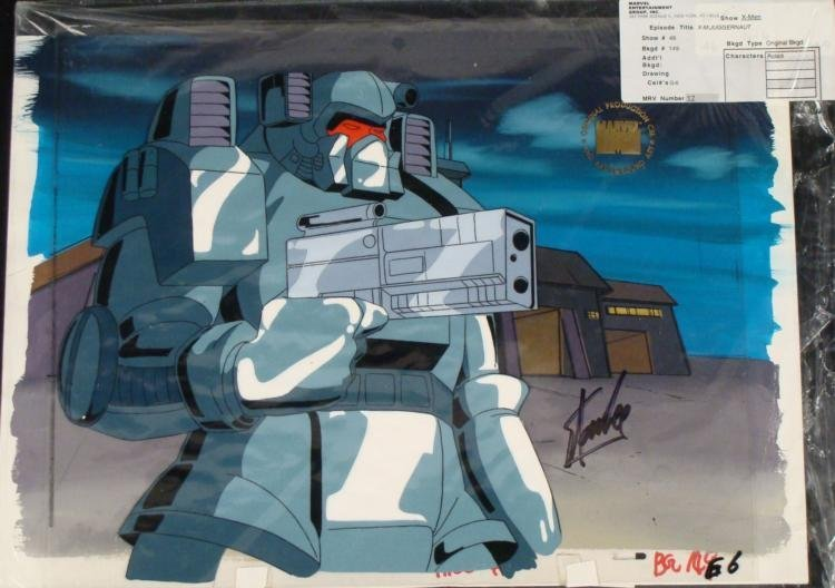 Stan Lee Signed X-Men Cel Original Background Animation