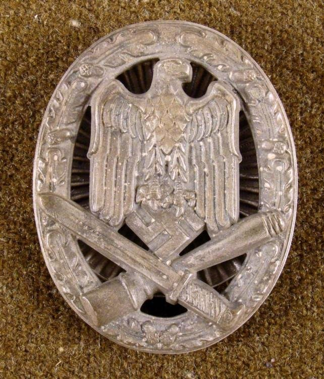 Nazi WWII General Assault Badge Screw Back