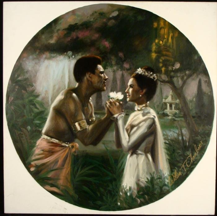 William Chambers Original Art Painting The King and I