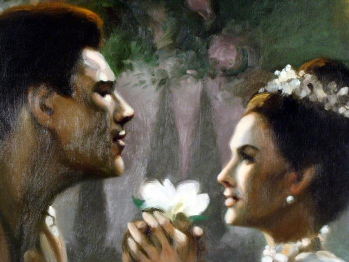 William Chambers Original Art Painting The King and I - 2