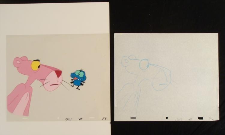 Cel Original Animation Not Cool Drawing Pink Panther