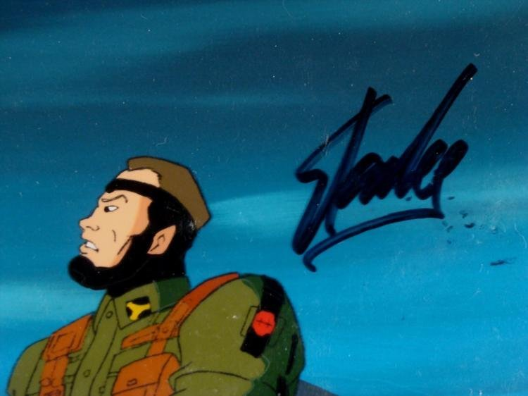X-MEN Background Original Signed Cel Animation Stan Lee - 3