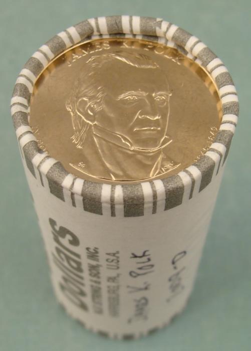 1 Gem Unc 2009-D Polk Presidential Dollar 25 Coins