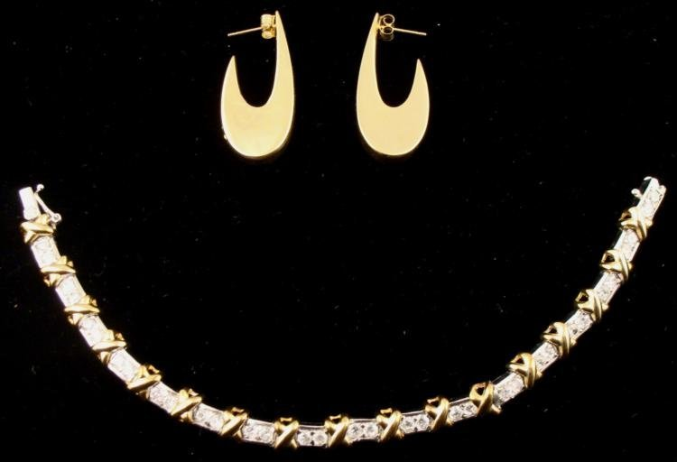 Hugs & Kisses Tennis Bracelet, Earrings 825 Silver