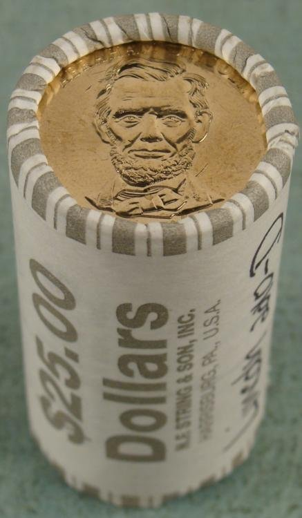 1 Bank Roll 2010-D UNC Lincoln Presidential Dollars