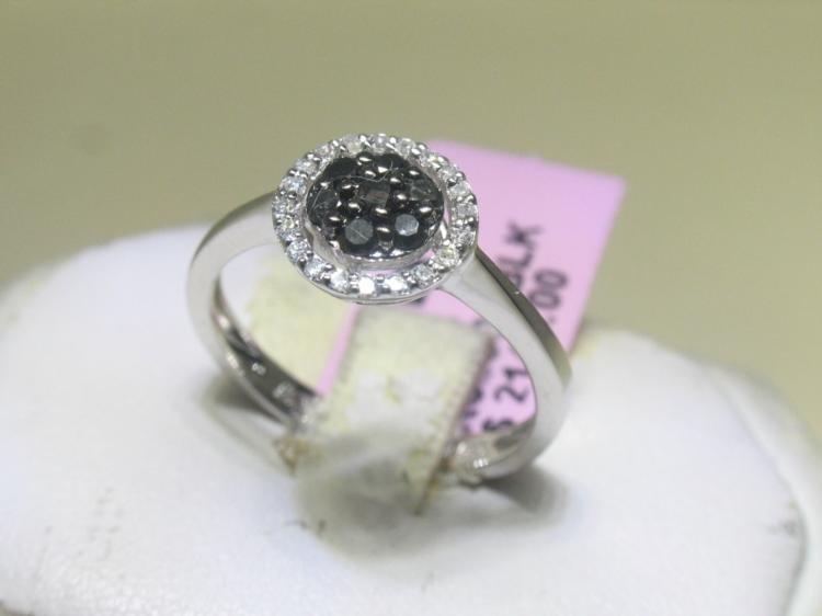 .12 CT Diamonds and .28 CT Black Diamonds Ring