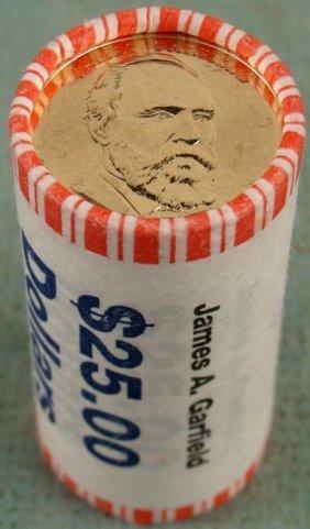 1 Bank Roll 2011-D UNC Garfield Presidential Dollars