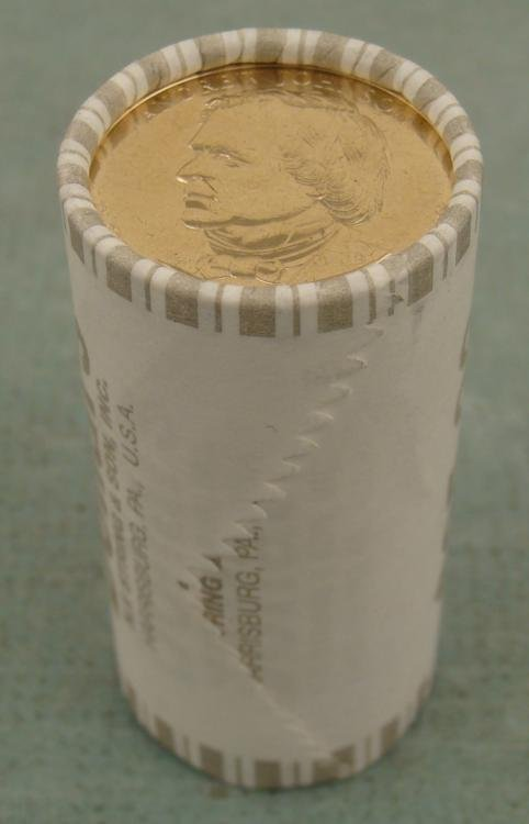 1 UNC Bank Roll 2011-D Johnson Presidential Dollars