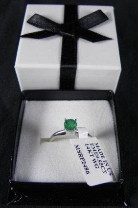 .55 Carat Emerald Solitaire Cut Ring