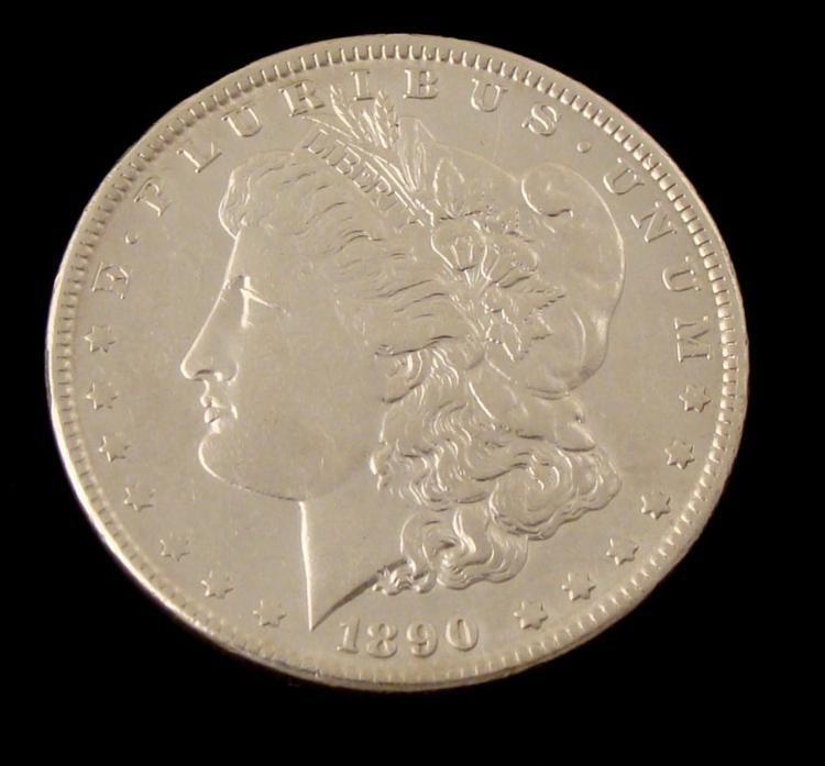 1890 Morgan Silver Dollar -Very Hi-Grade