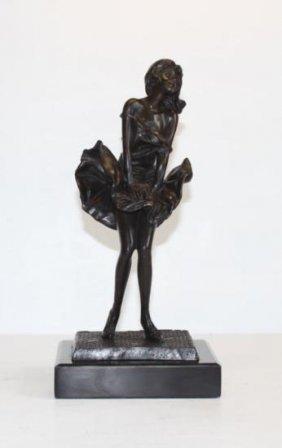 Posh Dancer In Marilyn Monroe Pose Bronze Sculpture