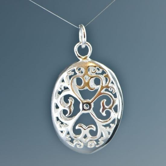 Silver Plated Egg Pendant
