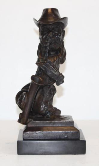 Charming R&B Sax Musician Bronze Sculpture After Pino
