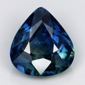 SPECTACULAR UNHEATED 0.76ct PEAR NATURAL GREENISH BLUE