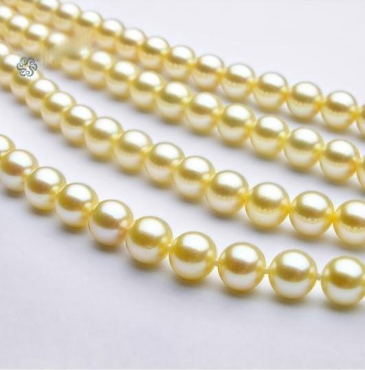 MWF1115 - 48in 5 -6.5mm AAA+ Akoya Cream Pearls Rope Ne