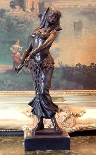 Charming Bronze Sculpture Belly Dancer