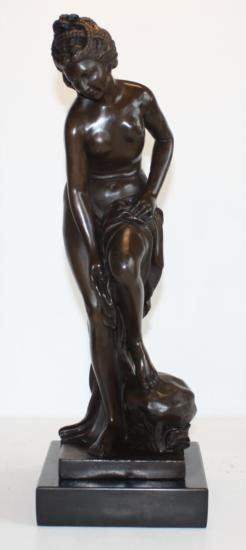 Magnificent Bronze Sculpture Sensual Woman