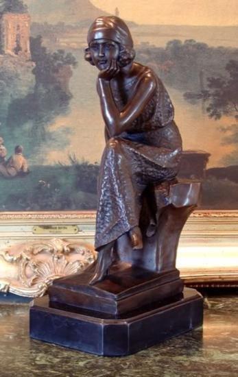 Darling Bronze Sculpture Art Deco Dancer