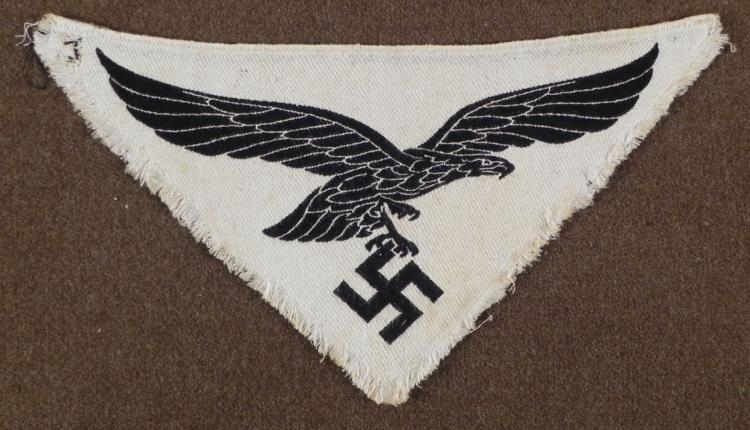 WWII Nazi German Sports Shirt Collar Eagle Luftwaffen