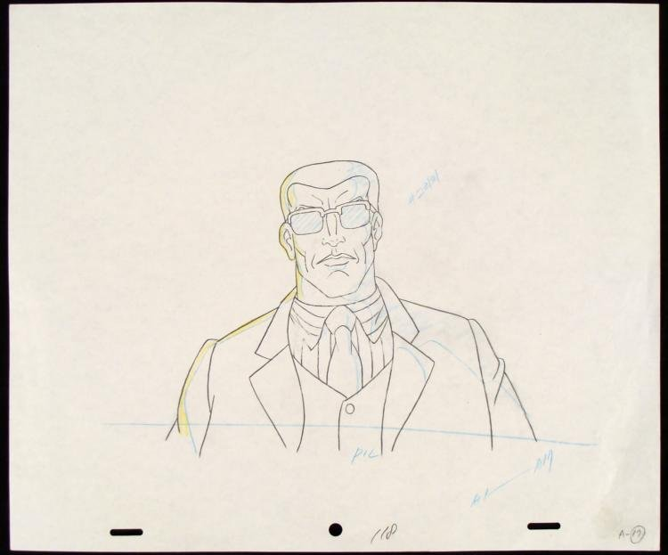 Original Production Drawing Colossus X-MEN Move It