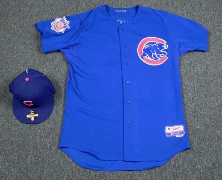 Game Worn Edgar Tovar Bullpen Coach Cubs Jersey and Hat
