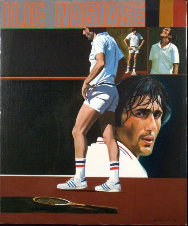 William Chambers Original Tennis Painting Ilie Nastase