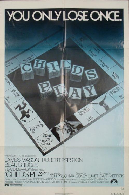 Childs Play Original 1 Sh Movie Poster 1972