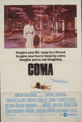 Coma Original 1 Sh Movie Poster Michael Douglas 1978