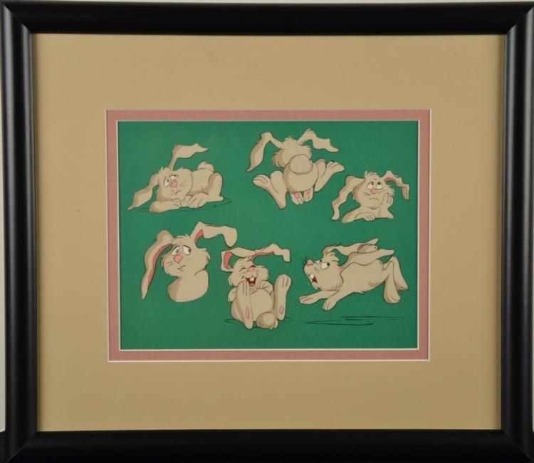 Rabbit Original Model Cel Animation Art Framed