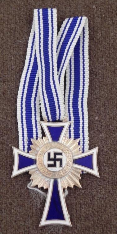 WWII Repro Nazi Mothers Cross w/Orig Ribbon 1938