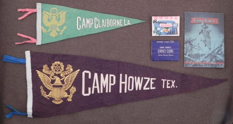 "WWII USAAF TRAINING CAMP ""CAMP HOWZE, TEXAS"" LOT"